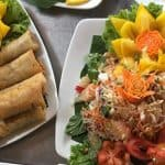 Spring Rolls with Salad