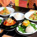 Amok Papaya Salad Kari Rice