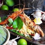 Grilled Prawn with Green Mango Salad
