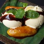 Ice-Cream Banana Leaf