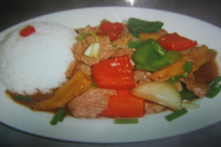 White Rice With Pork