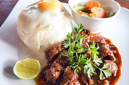 White Rice With Lak Lok