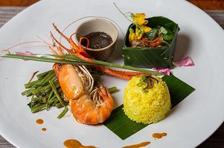 Yellow Rice Beef Shrimp